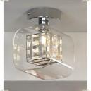 LSC-8007-01 Светильник настенно-потолочный Lussole Sorso, 1 плафон, хром, серебро с прозрачным