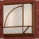 LSF-9002-02 Светильник настенно-потолочный Lussole Barbara, 2 лампы, орех, белый