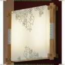 LSF-9102-02 Светильник настенно-потолочный Lussole Barbara, 2 лампы, лиственница, белый с чёрным