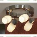 LSQ-2601-04 Люстра потолочная Lussole Saltara, 4 плафона, хром с никелем
